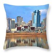 Panoramic Cincinnati Throw Pillow