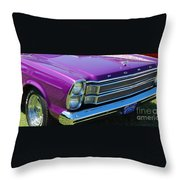 panoramic Ford Galaxie Throw Pillow