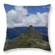 Panoramic Machu Picchu Throw Pillow