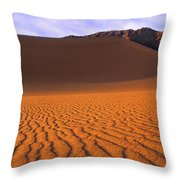 Panoramic Mesquite Sand Dune Patterns Death Valley National Park Throw Pillow