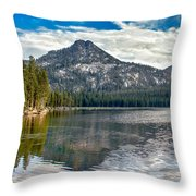 Panoramic Of Anthony Lake Throw Pillow