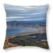 Panoramic Of Henry's Lake Throw Pillow
