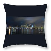Panoramic Of Miami Florida Throw Pillow