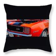 panoramic orange Z28 Camaro Throw Pillow