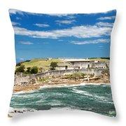 Panoramic Photo Of Bare Island Bridge Throw Pillow