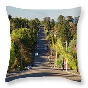 Panoramic Photo Of Katoomba Street Throw Pillow