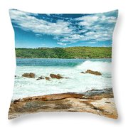 Panoramic Photo Of La Perouse Throw Pillow
