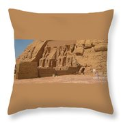 Panoramic Photograph Of Famous Egyptian Monument Throw Pillow
