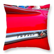 panoramic red Impala Throw Pillow
