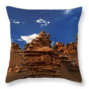 Panoramic Sunset Light On Sandstone Formations Fantasy Canyon  Throw Pillow