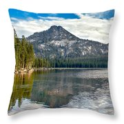 Panoramic View Of Anthony Lake Throw Pillow