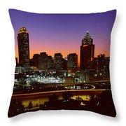 Panoramic View Of Atlanta Skyline Throw Pillow