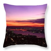 Panoramic View Of Empire State Throw Pillow
