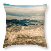 Panoramic View Of Landscape Of Mountain Range Throw Pillow