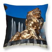 Panoramic View Of Mgm Lion And Mgm Throw Pillow