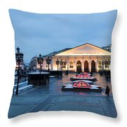 Panoramic View Of Moscow Manege Square And And Central Exhibition Hall - Featured 3 Throw Pillow