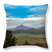 Panoramic View Of The Cascades Throw Pillow