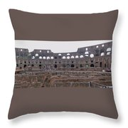 Panoramic View Of The Colosseum Throw Pillow