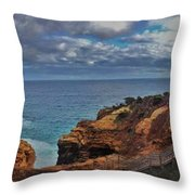 Panoramic View Of The Grotto Throw Pillow
