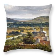 Panoramic View Of The Ile-de-france Throw Pillow