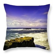 Panoramic View Of The Pacific Ocean Throw Pillow