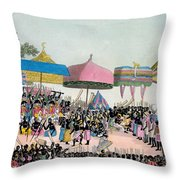 Panoramic View Of The Yam Custom Throw Pillow