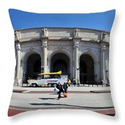 panoramic View of Union station in Washington DC Throw Pillow