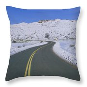 Panoramic View Of Winter Snow Throw Pillow