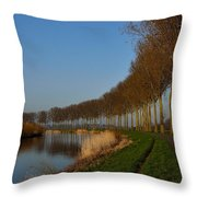 Panoramic View On Pottes - Belgium Throw Pillow