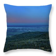 Panoramic View Overlooking Anchorage Throw Pillow