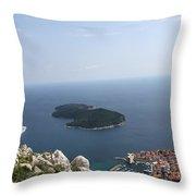 Panoramo Restaurant Throw Pillow