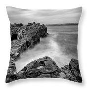 Ballycastle - Pans Rock To Rathlin Island Throw Pillow