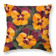 Pansies Are For Thoughts Throw Pillow