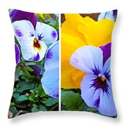 Pansies In Stereo Throw Pillow