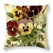 Pansies Throw Pillow by Philip Ralley