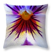 Pansy Abstract 1 Throw Pillow