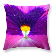 Pansy Abstract 3 Throw Pillow