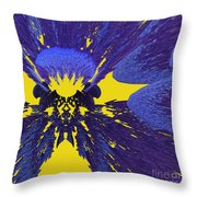 Pansy By Jammer Throw Pillow