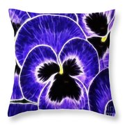 Pansy Expressive Brushstrokes Throw Pillow