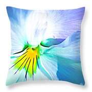Pansy Flower 6 Throw Pillow