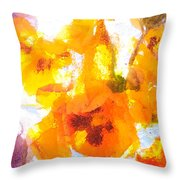 Pansy Flowers Throw Pillow