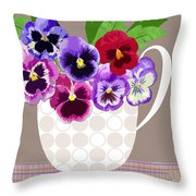 Pansy Passion Throw Pillow