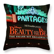 Pantages Theather Marquie Throw Pillow