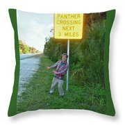 Panther Crossing Throw Pillow