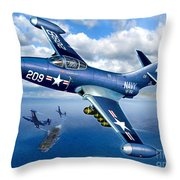 Panther Heads Out Throw Pillow