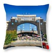Panthers Stadium Throw Pillow