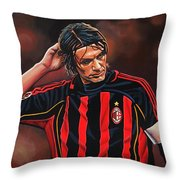 Paolo Maldini Throw Pillow by Paul Meijering