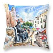 Papa Luna In Peniscola Throw Pillow