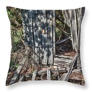 Papa Sandy's Storage Shed Throw Pillow by James Woody