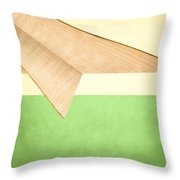 Paper Airplanes Of Wood 17 Throw Pillow